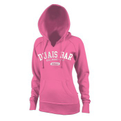 Ladies Neon Pink Hooded Sweatshirt