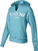 Ladies Lagoon Blue Hooded Sweatshirt