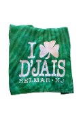 D'Jais Green Shamrock Beach Towel