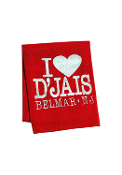 D'Jais Red Valentines Beach Towel