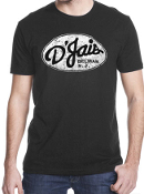 D'Jais Mens Black Crew Tee Shirt