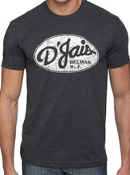D'Jais Mens Charcoal Crew Tee Shirt