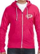 D'Jais Unisex Winterberry Zen Zip-Up Hoodie