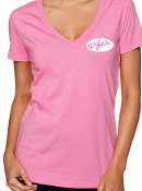 D'Jais Ladies Pink V-Neck Tee