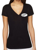 D'Jais Ladies Black V-Neck Tee