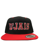 D'Jais Black and Red City Hunter Hat