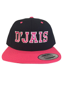 D'Jais Black and Pink Snap Back Hat