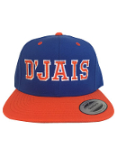 D'Jais Royal Blue and Orange Snap Back Hat