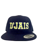 D'Jais Navy and Neon Yellow Snap Back Hat