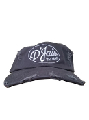 "D'Jais Grey ""Dad"" Hat with White Logo"