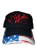 "D'Jais LIMITED Stars & Strips ""Dad"" Hat with White Logo"