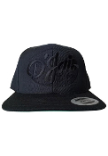 D'Jais *LIMITED* Black Stealth Oval Raised Logo Snap Back Hat