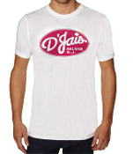 Men's White Crew D'Jais Red Logo