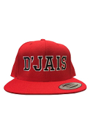 D'Jais Red and Black City Hunter Hat