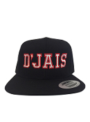 D'Jais Black and Red Snap Back Hat
