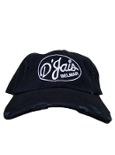 "D'Jais Black ""Dad"" Hat with White Logo"