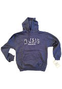 D'Jais Unisex Heather Blue Hoodie